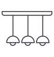 ceiling light lamp line icon sig vector image