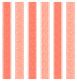 Pink Salmon Line Pattern Background vector image