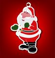 Santa claus with pin vector image