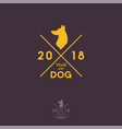 2018 year dog hipster logo vector image
