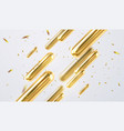 abstract white background with glitter and golden vector image vector image