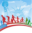 american people immigration vector image
