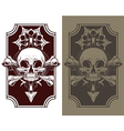 Awesome tattoo skull and bones set vector image vector image