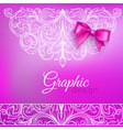 Background Bow and Ornamental Pattern vector image vector image