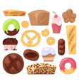 bakery baking pastry bread or loaf and vector image