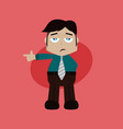 businessman manager at work pointing finger vector image vector image