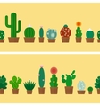 Cactus horizontal background vector image vector image