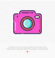 camera thin line icon sign photo vector image