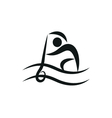 Canoeing and Kayaking icon monochrome vector image
