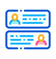 chatting icon outline vector image