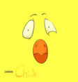 chick face vector image vector image