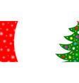 christmas card border with a christmas tree vector image