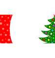 christmas card border with a tree vector image