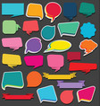 collection of empty ribbons stickers and tags vector image vector image