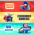 colorful cinematography horizontal banners vector image vector image
