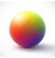 Colorful sphere on white background vector image vector image