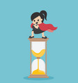 concept super business woman stand on the vector image