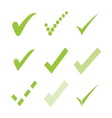 Confirm check marks icons1 vector image
