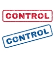 Control Rubber Stamps vector image vector image