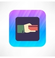 credit card in a hand icon vector image vector image