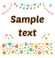 Cute postcard with colored design elements Cute vector image vector image