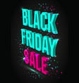 dark banner for black friday sale modern neon vector image