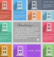 Door icon sign Set of multicolored buttons Metro vector image vector image