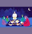eid al fitr mubarak muslim vector image vector image