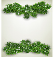 Fir bundle christmas frame vector image vector image