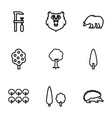forest icons vector image vector image