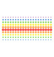 gear shape halftone spectral grid vector image vector image