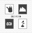 hand drawn silhouettes eco food posters vector image vector image
