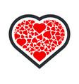 heart icon symbol of love happy valentines day vector image vector image