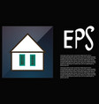 icon house building in flat style vector image vector image