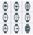 icon set of smart watches vector image