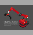 industrial machine poster vector image