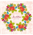 Invitations flowers for holiday vector image