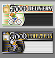 layouts for food delivery vector image vector image