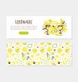 lemonade landing page template fresh fruits vector image vector image