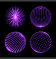 light sphere ball with dot connection neon vector image