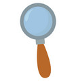 magnifying glass on white background vector image