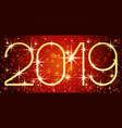 new year red banner 2019 vector image vector image