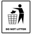 no littering sign do not vector image vector image