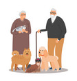 old petlover couple vector image vector image