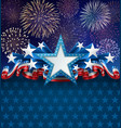 patriotic american background with fireworks vector image vector image