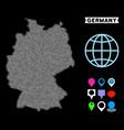 pixel halftone germany map vector image