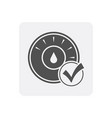 quality control at home icon with thermostat sign vector image vector image