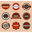 Racing badges vintage style vector image vector image