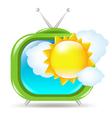 Retro Weather TV vector image