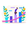 revenue growth concept vector image vector image